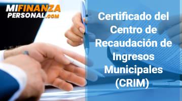 Certificado CRIM
