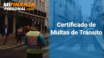 Certificado de Multas de Tránsito