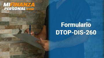 Formulario DTOP-DIS-260