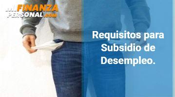 Requisitos para Subsidio de Desempleo