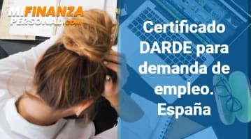 Certificado DARDE para Demanda de Empleo