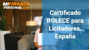 Certificado ROLECE para Licitadores