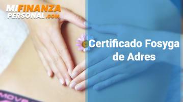 Certificado Fosyga de Adres